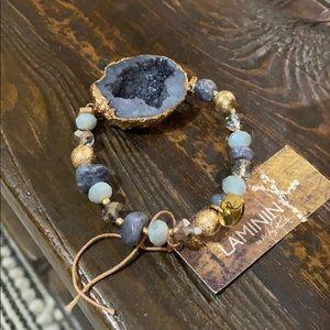 Altered state stone bracelet